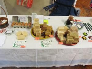 goat milk soap, shampoo bars, and farm fresh eggs!