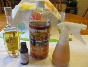 Argan Oil, Peppermint Oil and Cider Vinegar