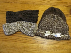 A combination of items: all 100% alpaca fiber yarn in mixed shades.